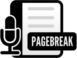 Page Break Podcast logo